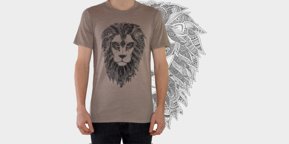 Brown Tee with Lion